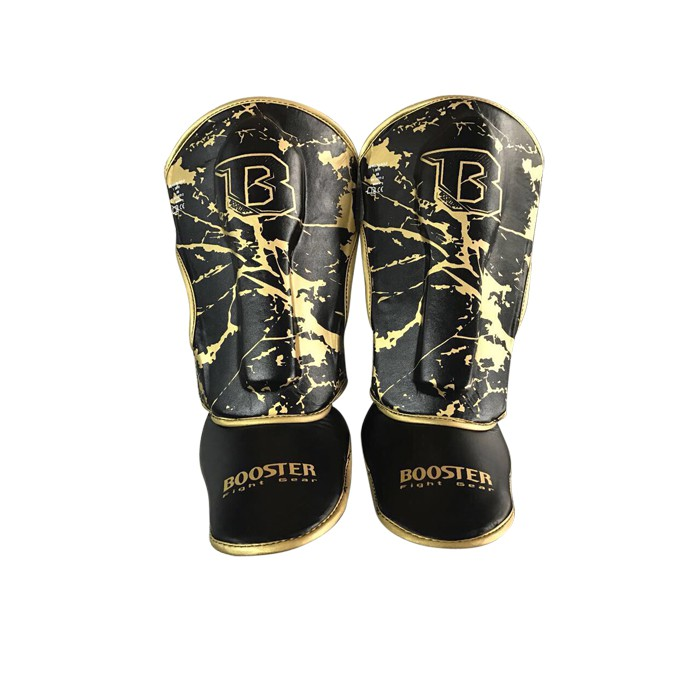 Booster Youth Marble Gold Shinguard - black / marble gold – image 1
