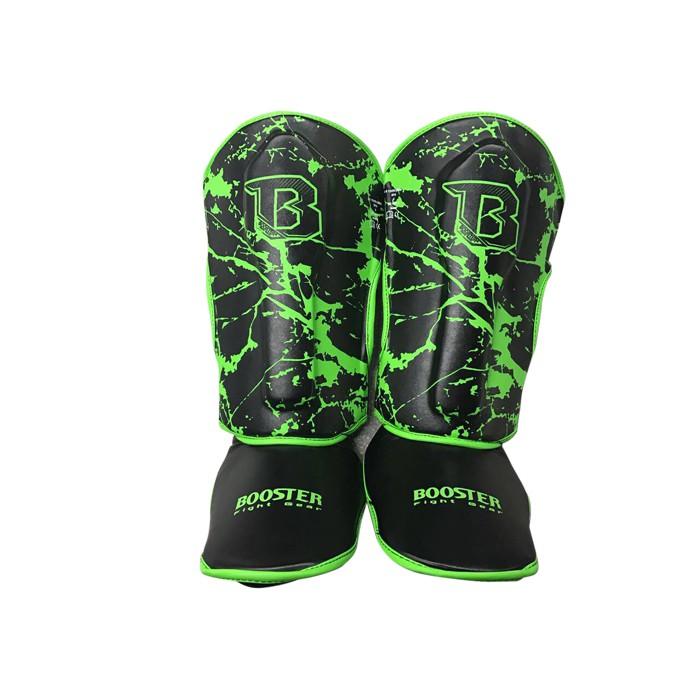 Booster Youth Marble Green Fuß- und Schienbeinschützer schwarz / grün marmoriert – Bild 1