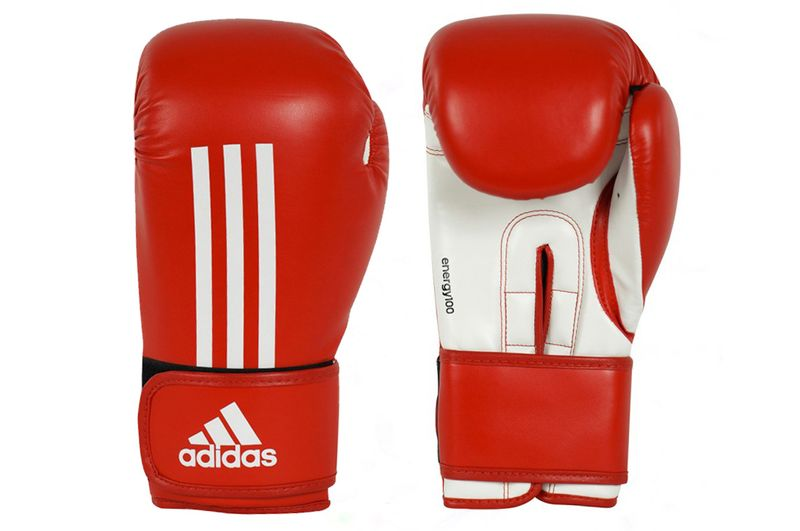 Adidas Energy 100 Boxing Gloves in red / white – image 1