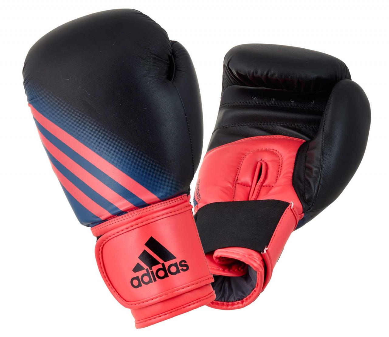 Adidas Speed 100 Boxhandschuhe in schwarz/shock rot