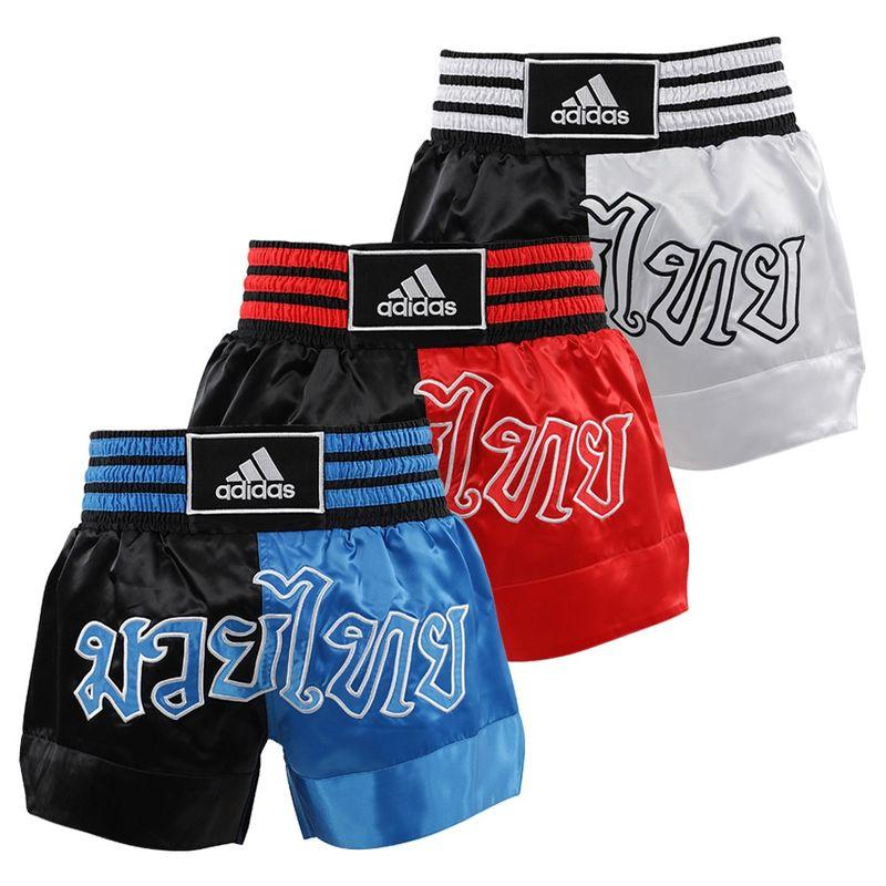 Adidas Thaiboxing-Short schwarz/rot – Bild 2