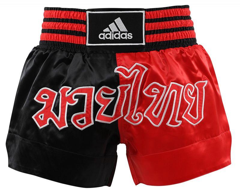 Adidas Thaiboxing-Short schwarz/rot – Bild 1