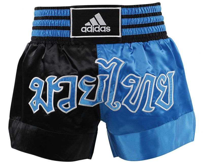 Adidas Thaiboxing-Short black / blue – image 1