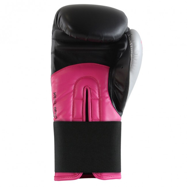 Adidas Hybrid 100 Dynamic Fit Boxing Gloves Black / Pink / Silver – image 3