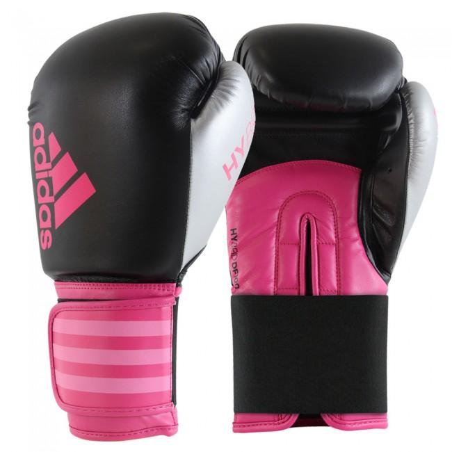 Adidas Hybrid 100 Dynamic Fit Guantes de boxeo negro / rosa / plata – Bild 1