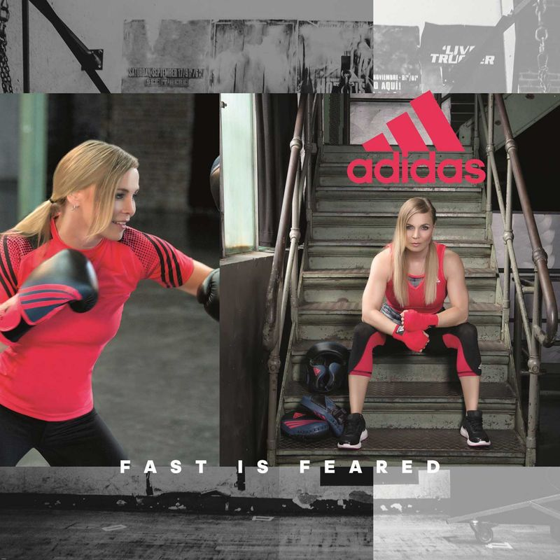 Adidas Speed 200 W boxing gloves in black / shock red – image 5