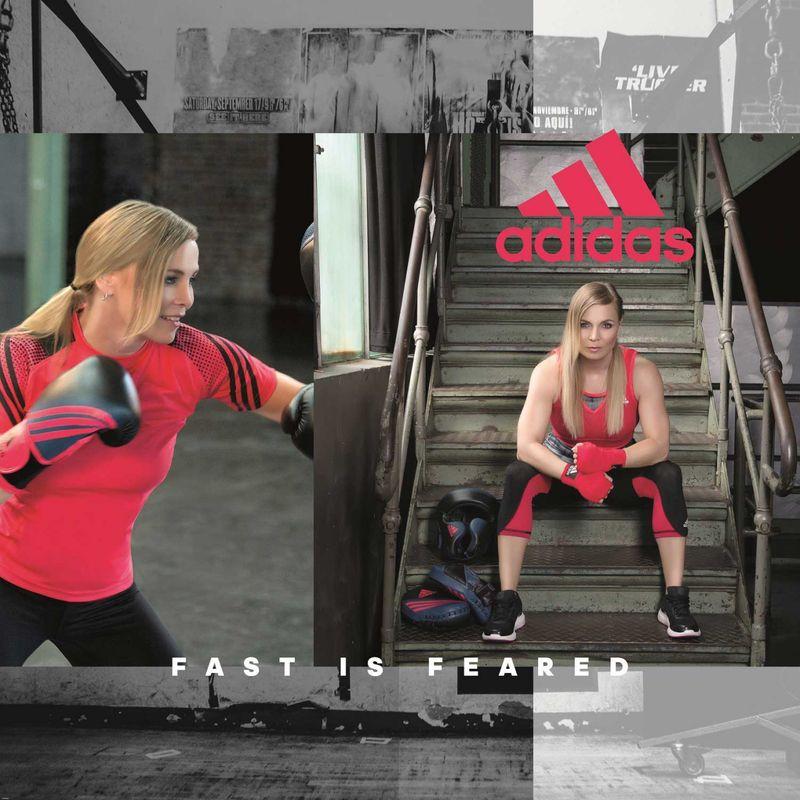 Adidas Speed 200 W Boxhandschuhe in schwarz/shock rot – Bild 5