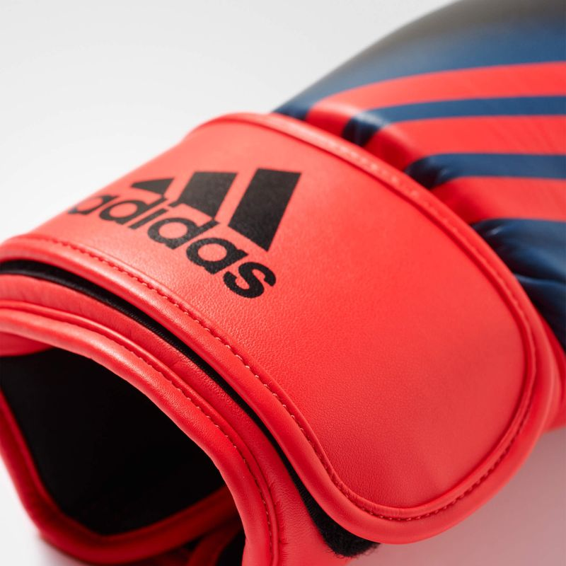 Adidas Speed 200 W boxing gloves in black / shock red – image 2