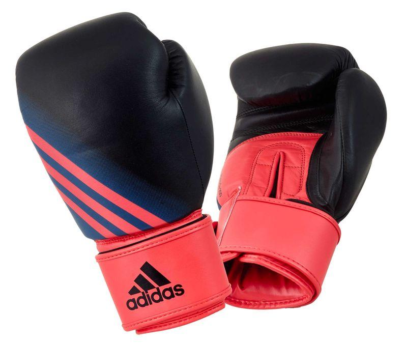 Adidas Speed 200 W Boxhandschuhe in schwarz/shock rot – Bild 1