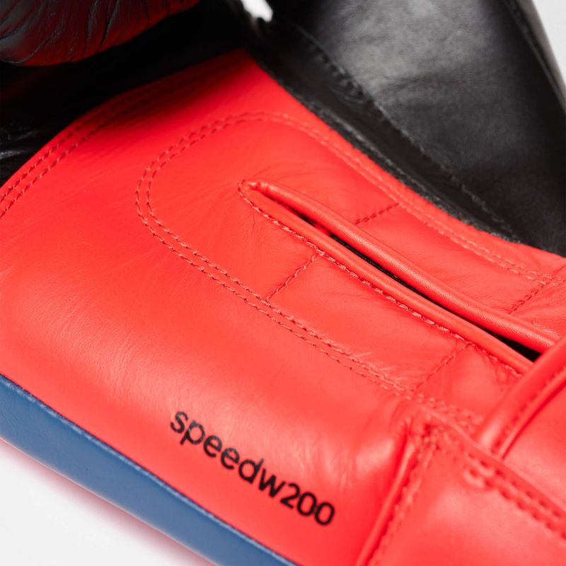 Adidas Speed 200 W boxing gloves in black / shock red – image 3