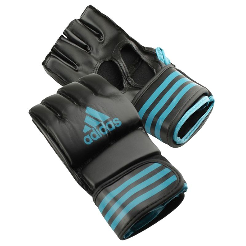 Adidas Grappling Training Glove Black / Solar Blue – image 2