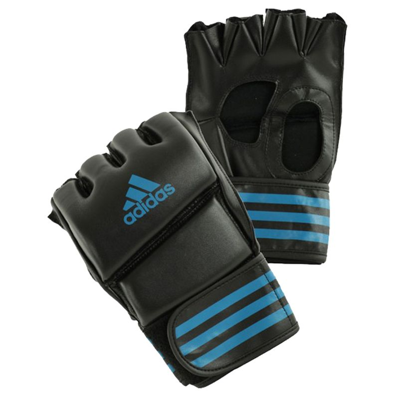 Adidas Grappling Training Glove Black / Solar Blue – Bild 1
