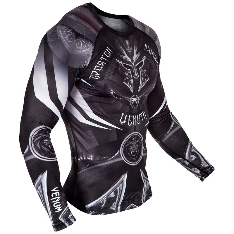 Venum Gladiator 3.0 Rashguard - Black / White - Long Sleeve – image 3