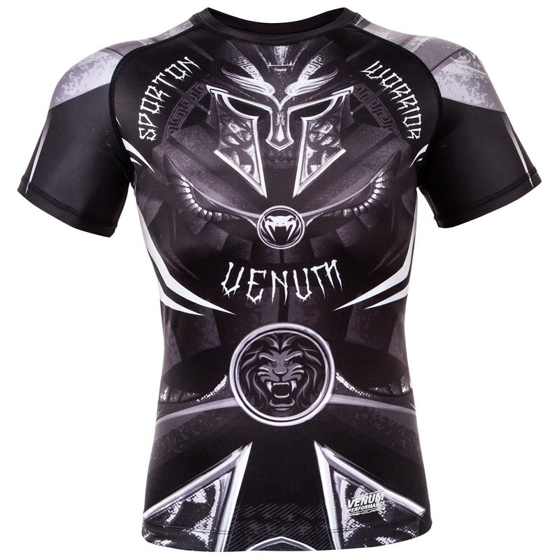 Venum Gladiator 3.0 Rashguard - Black / White - Short Sleeve – image 1