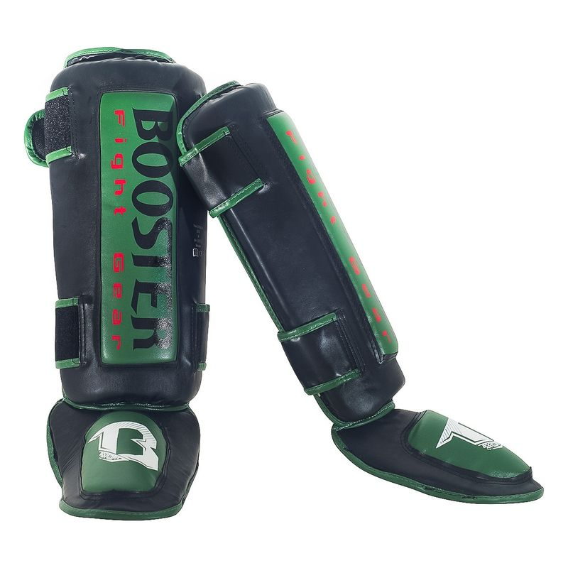Booster Thai Striker Green foot and shin guards green- black – image 2
