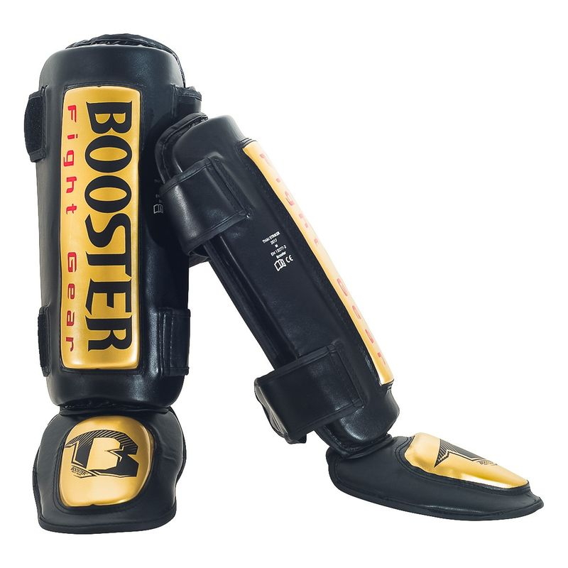 Booster Thai Striker Gold Foot and Shin Guards gold- black – image 2