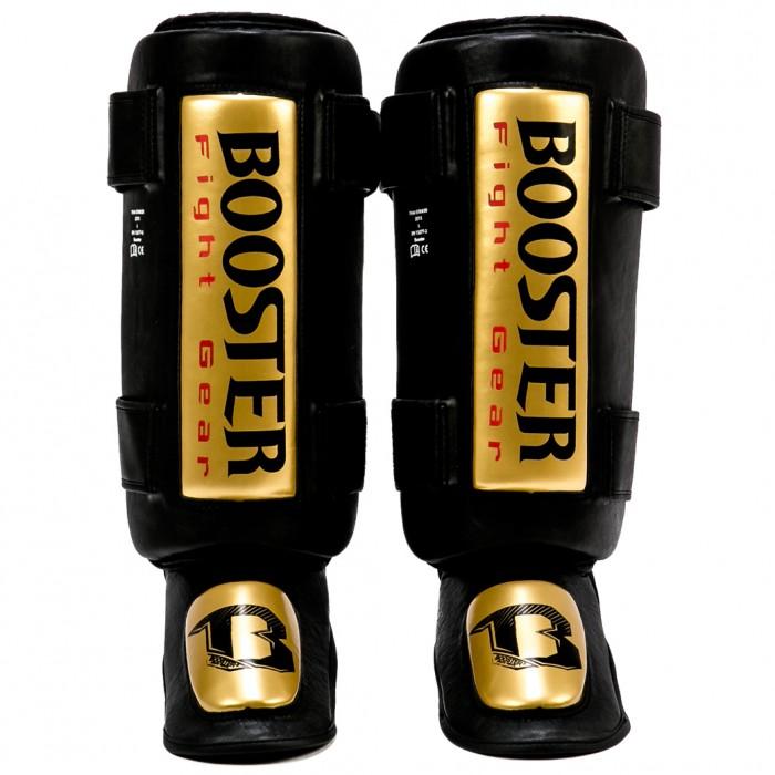 Booster Thai Striker Gold Fuß- und Schienbeinschützer gold - schwarz – Bild 1