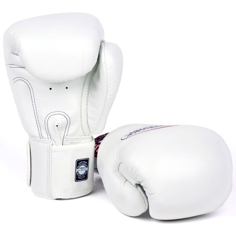 Twins professional Leather Boxing Gloves Muay Thai Kickboxing Boxing / BGVL 3 white – Bild 3