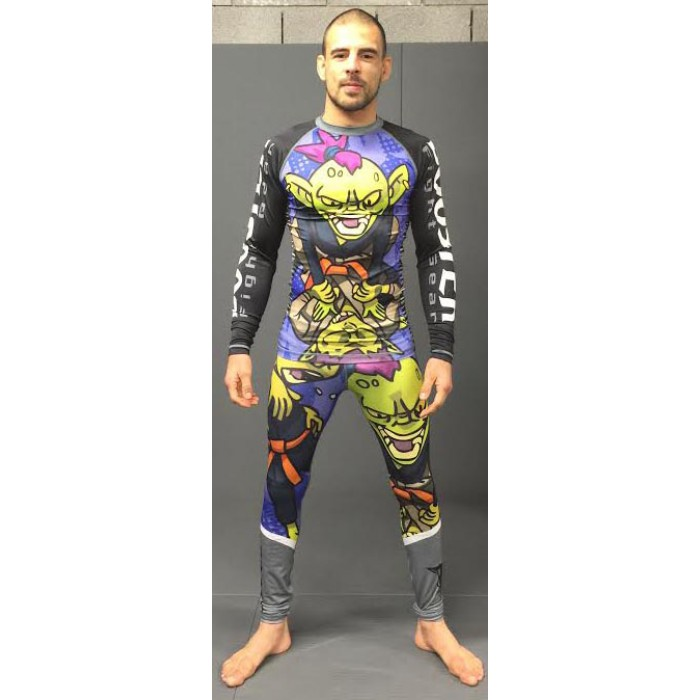 Booster Freefight / MMA pants gray-green-purple Spats Green Goblin – image 2