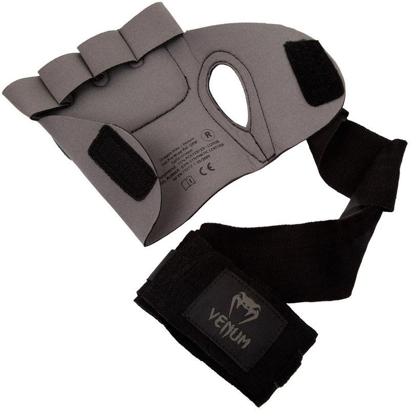 Venum Gel Kontact Glove Wraps Gelbandagen/Gelhandschuhe grau-schwarz – Bild 6