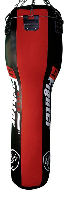 4Fighter T-Bag XXL punching bag, red/black, filled, 150x50x35cm 70Kg imitation leather – image 2