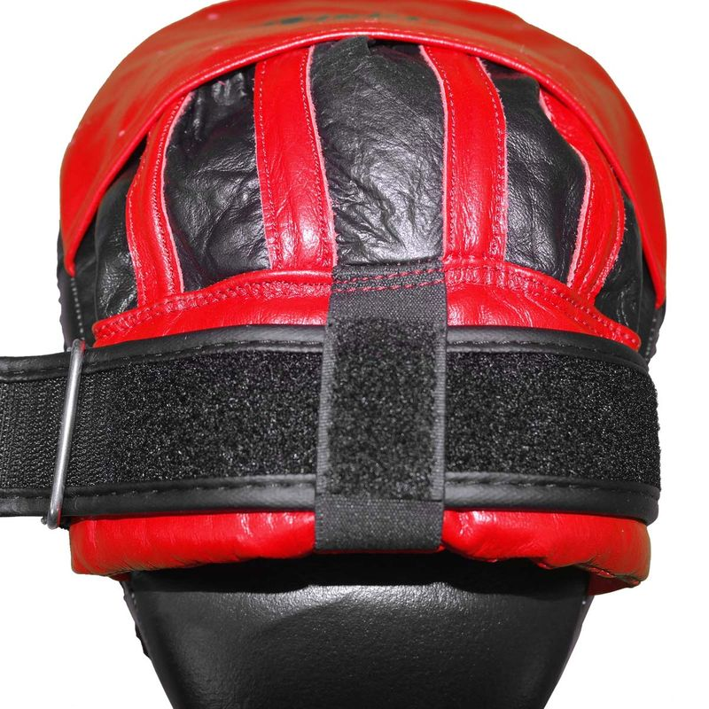 4Fighter-PRO FIGHT HARD medium focus pads / pre-curved hand mitts black-red – image 8