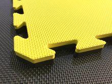4Fighter 2cm Kampfsportmatte DOUBLE CROSS gelb-schwarz 001