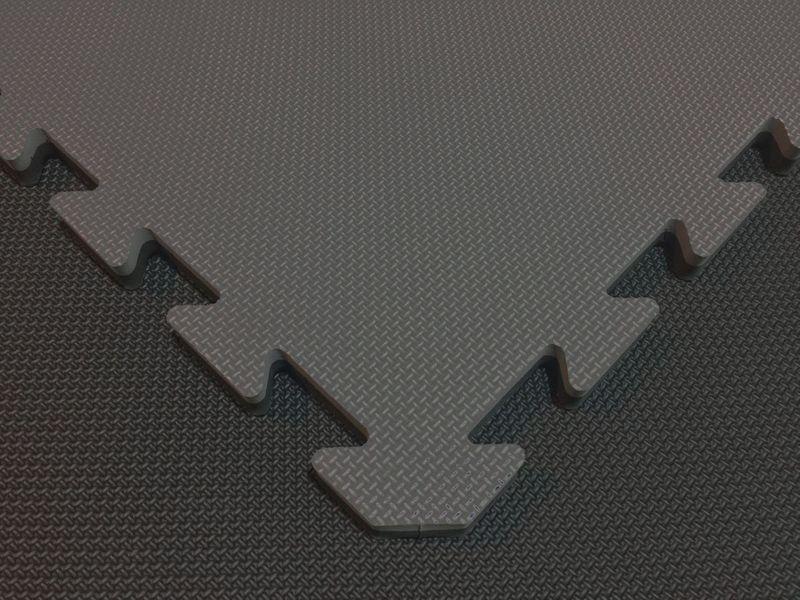 4Fighter 2cm Kampfsportmatte DOUBLE CROSS grau-schwarz – Bild 2