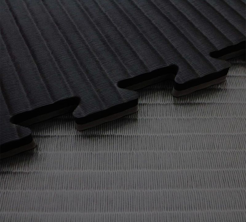 4Fighter 4cm martial arts mat DOUBLE TATAMI gray-black – image 1