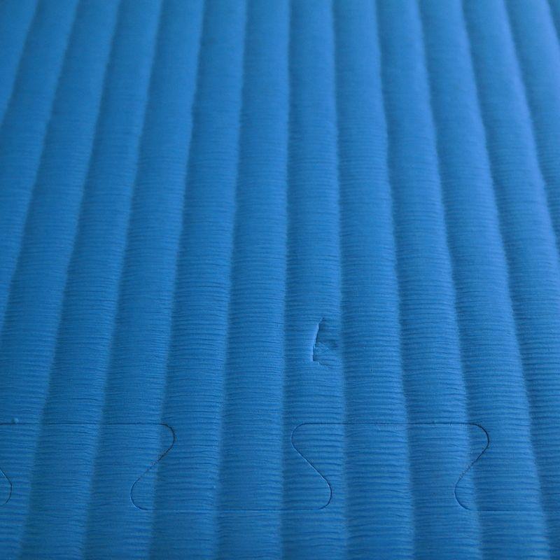 4Fighter 3cm Kampfsportmatte DOUBLE TATAMI gelb-blau B-Ware – Bild 4