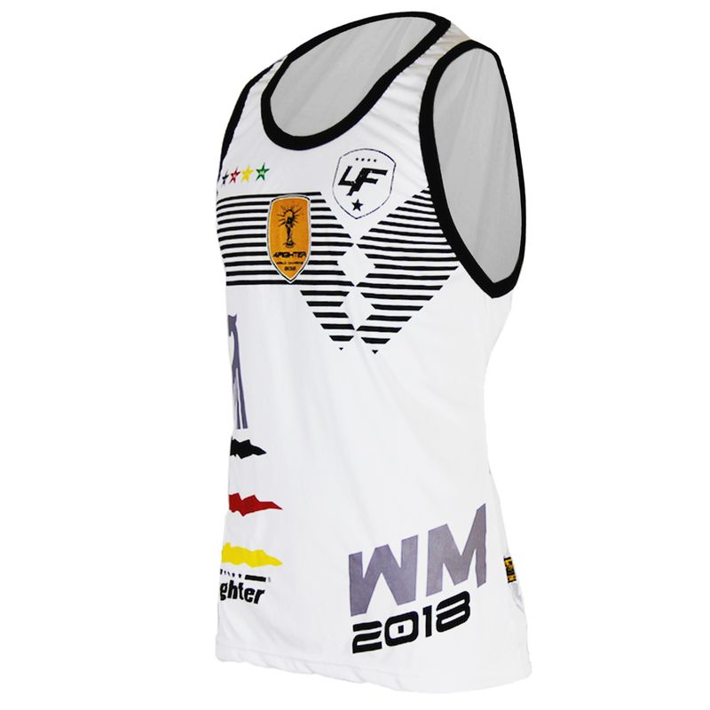 4Fighter Germany Men / Kids World Cup 2018-Tanktop / Muscleshirt white – image 3
