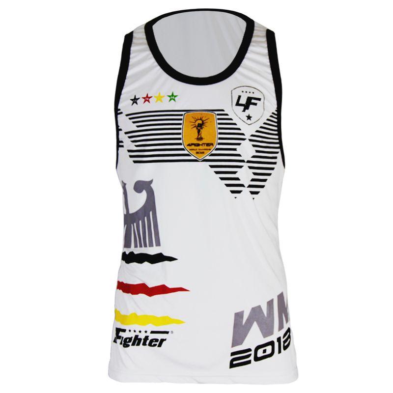4Fighter Alemania Hombres / Niños Tanque de la camisa Copa del Mundo 2018 blanco – Bild 2