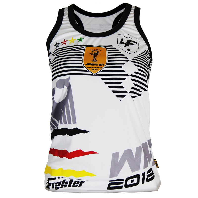 4Fighter Germany Women / Girls World Cup 2018-Tanktop white – image 1
