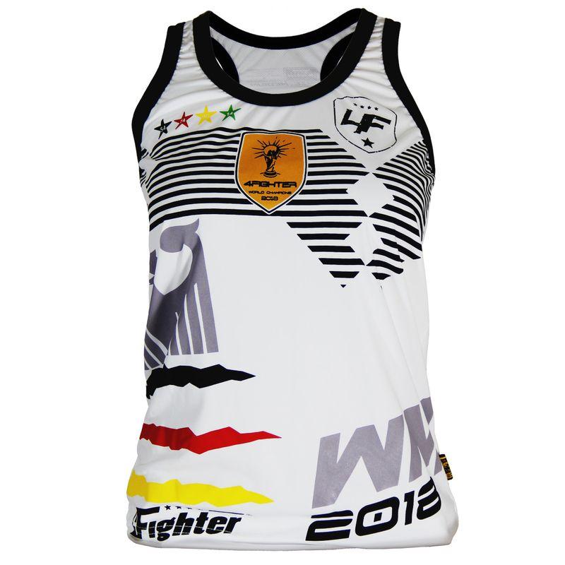 4Fighter Alemania  Femenina Tanque de la camisa Copa del Mundo 2018 blanco – Bild 1