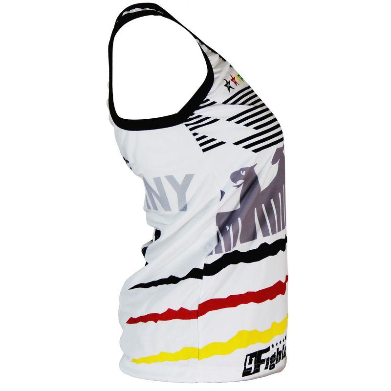 4Fighter Alemania  Femenina Tanque de la camisa Copa del Mundo 2018 blanco – Bild 2