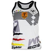 4Fighter Deutschland Frauen / Mädchen WM 2018-Tanktop weiß 001