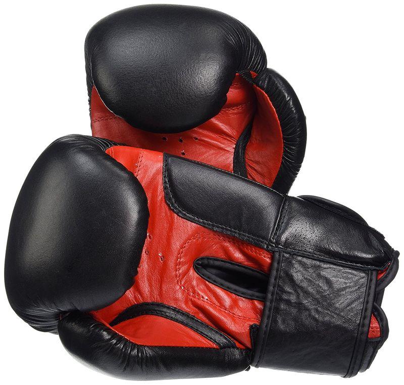 Everlast Fighter - Leder Boxhandschuhe in schwarz/rot – Bild 2
