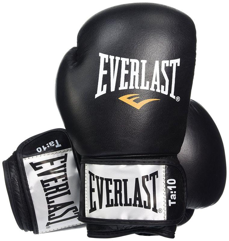 Everlast Fighter - Leder Boxhandschuhe in schwarz/rot – Bild 1