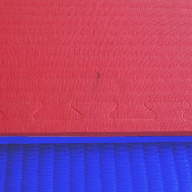 4Fighter 3cm Kampfsportmatte DOUBLE TATAMI rot-blau B-Ware – Bild 3