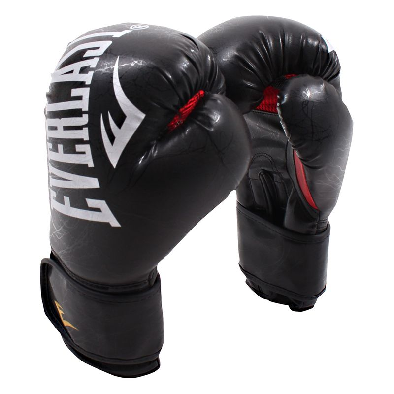 Everlast MMA Training Gloves - Boxing Gloves Skintex in marble black / red – image 2