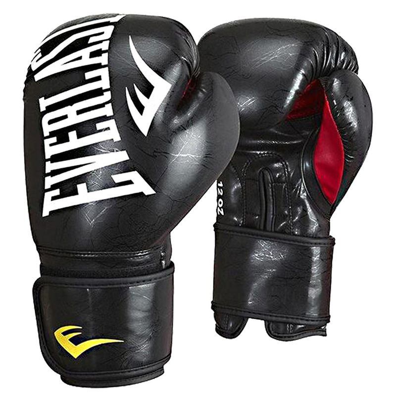 Everlast MMA Training Gloves - Boxing Gloves Skintex in marble black / red – image 1