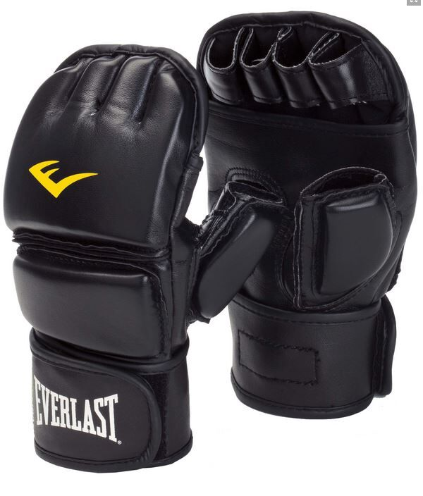 Everlast MMA Grappling Gloves Closed Thumb - Kunstleder in schwarz