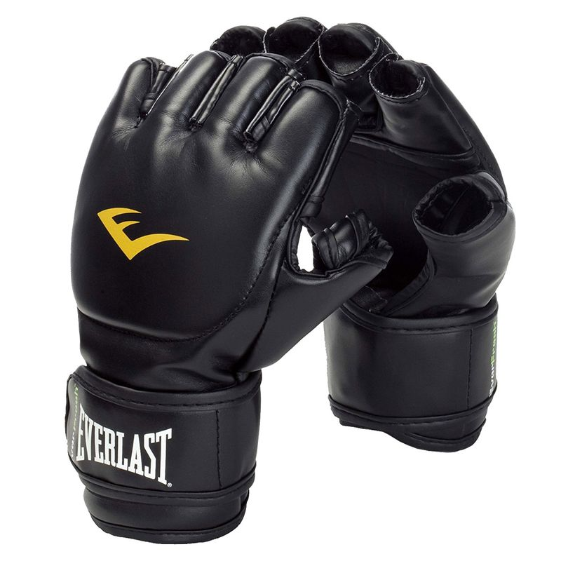 Everlast MMA Grappling Gloves Closed Thumb - Kunstleder in schwarz – Bild 1