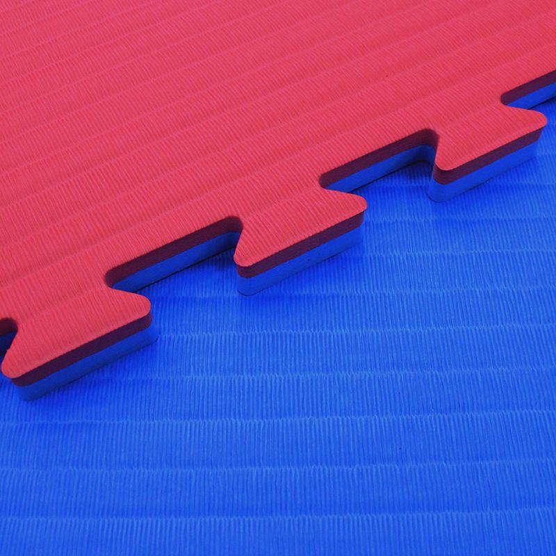 4Fighter 4cm Kampfsportmatte DOUBLE TATAMI rot-blau B-Ware – Bild 1