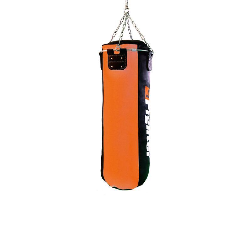 4Fighter Profi Kunstleder Boxsack / Sandsack - schwarz/orange, ungefüllt 100cm – Bild 2