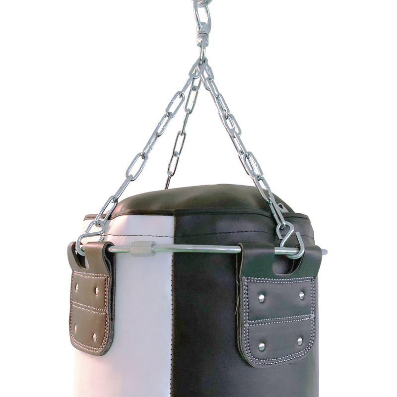 4Fighter professional imitation leather punching bag / sandbag - black / white , unfilled 100cm – image 3