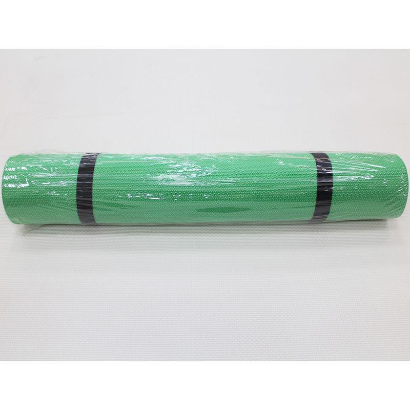 4Fighter Gimnasia Yoga Mat Pilates Mat Fitness Mat, dos bandas elásticas 180 x 60 x 0,4cm verde – Bild 3
