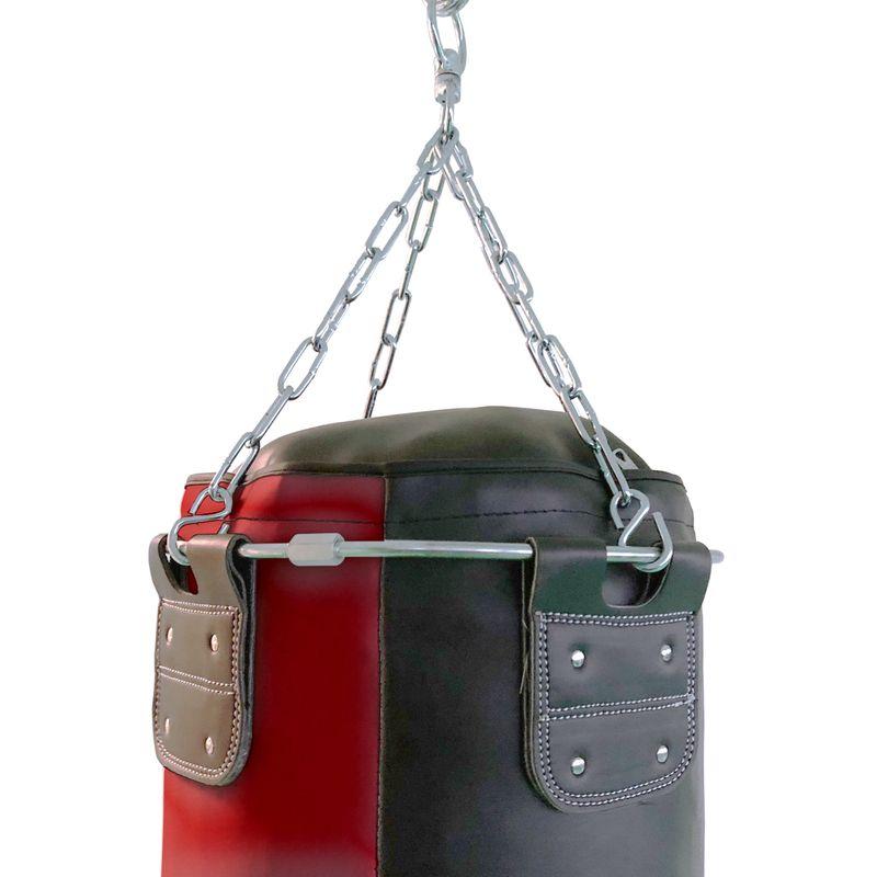 4Fighter Profi Kunstleder Boxsack / Sandsack - schwarz/rot, ungefüllt 150cm – Bild 3