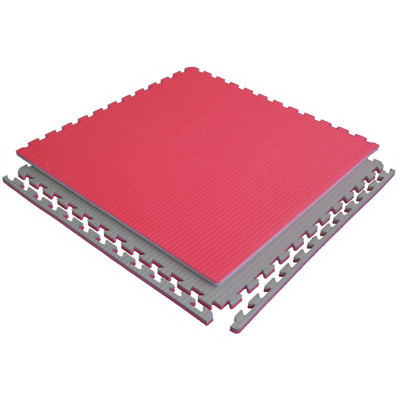 4Fighter 2cm Estera de artes marciales DOUBLE TATAMI roja-gris – Bild 6