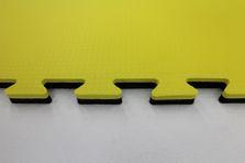 4Fighter 2cm Kampfsportmatte schwarz-gelb Circle / Zweite Wahl